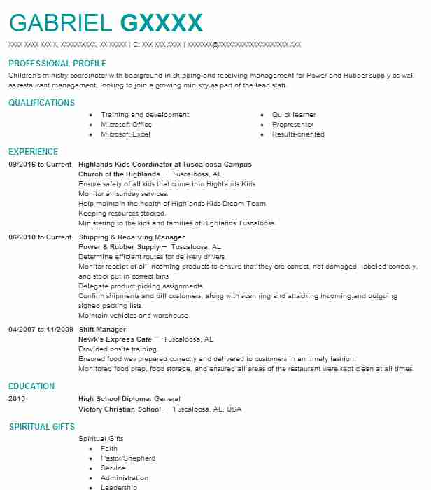 Counselor resume
