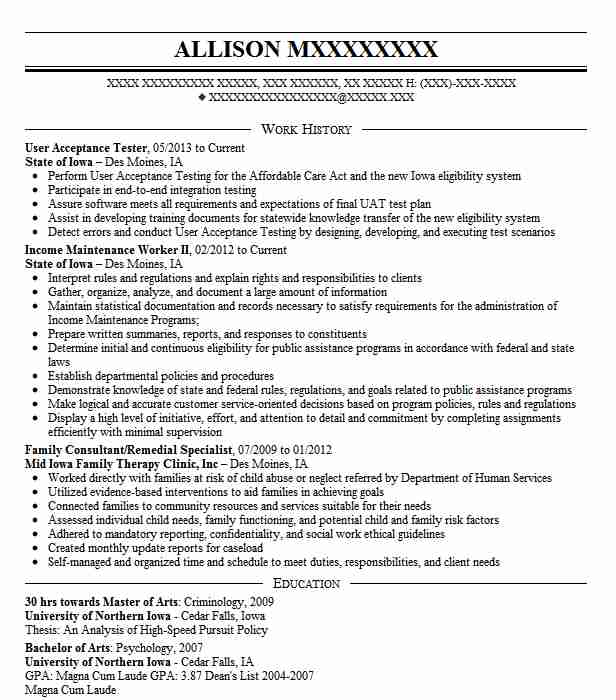 Web Tester Resume Sample: User Acceptance Tester Resume Sample