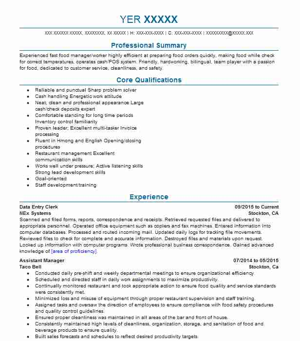 best data entry clerk resume example