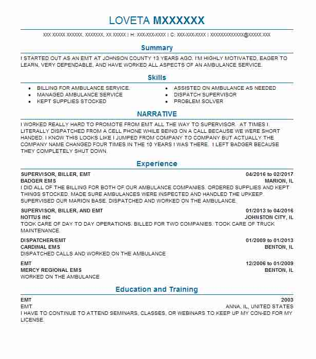 Cypress Resume | Find Resume Examples In Cypress Il Livecareer