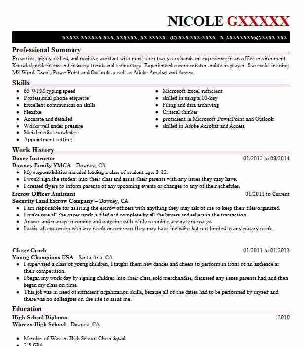 Dance Instructor Resume Sample Instructor Resumes Livecareer