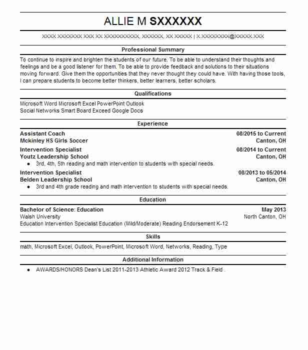 assistant coach resume sample resumes misc livecareer