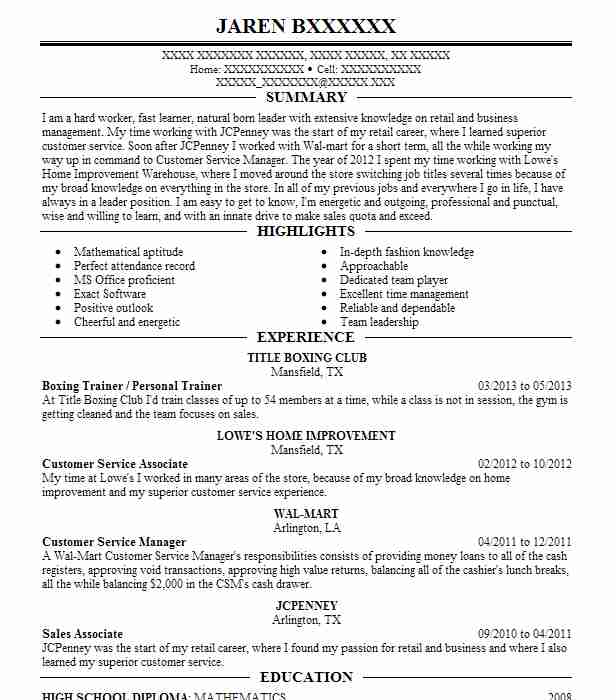 boxing coach resume example afterburn fitness