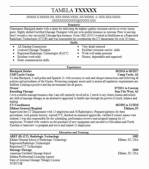 147 gaming resume examples in arizona