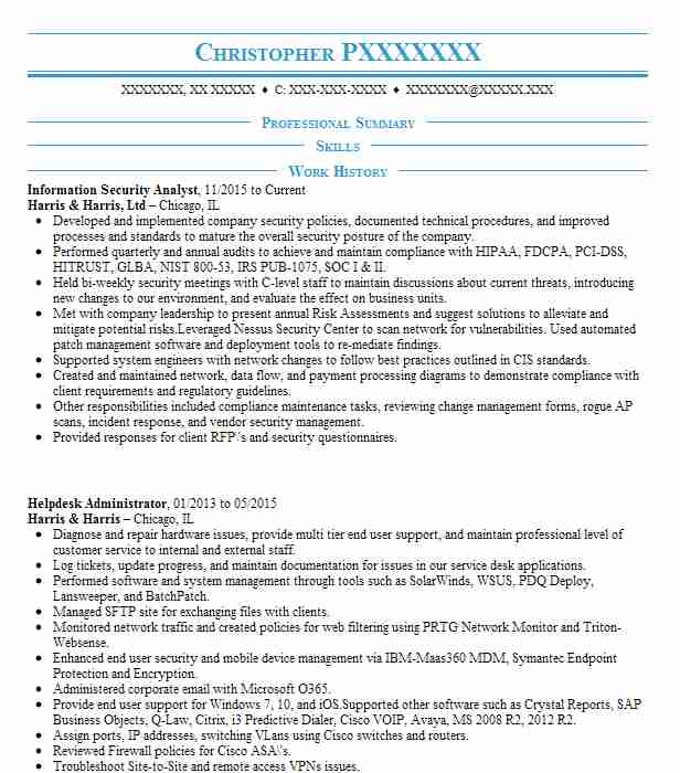 Information Security Analyst Objectives | Resume Objective ...