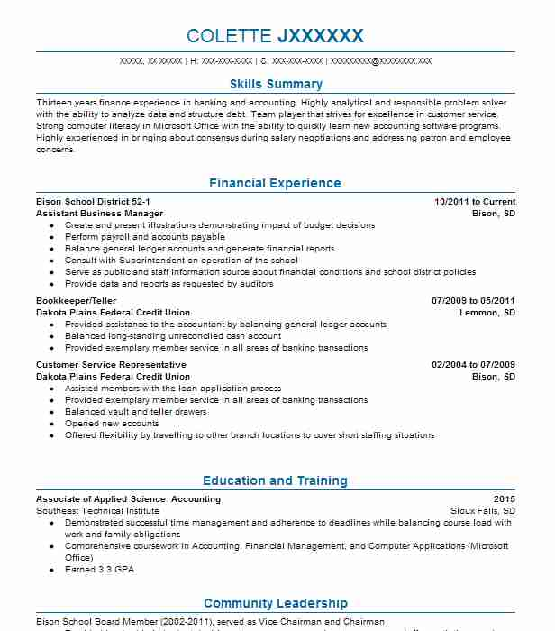 24 Financial Management (Accounting And Finance) Resume Examples in ...