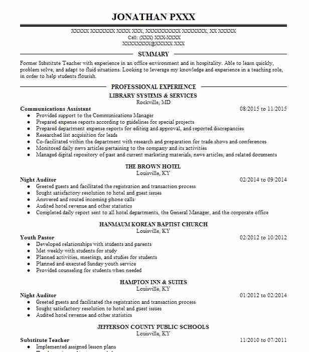 communications assistant resume sample