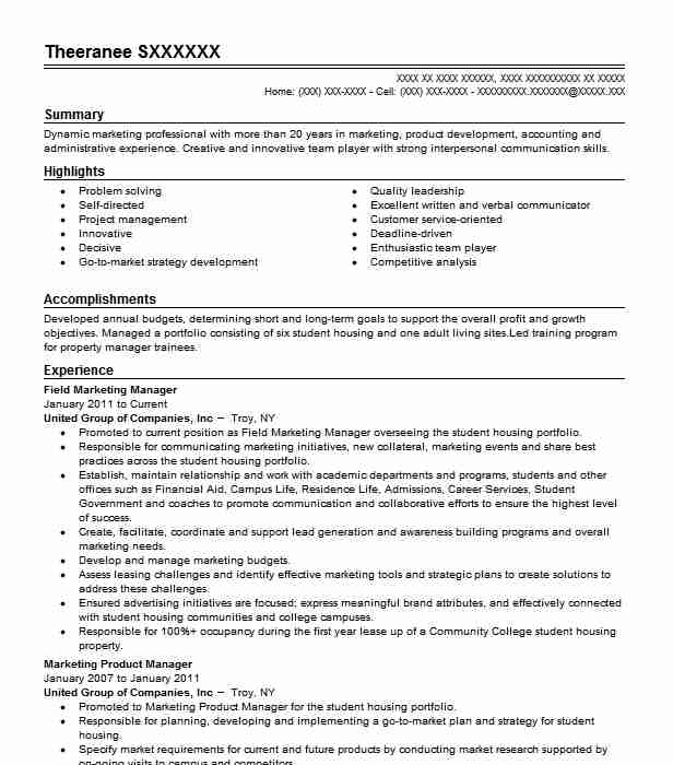 Field Marketing Manager Resume Sample Manager Resumes Livecareer