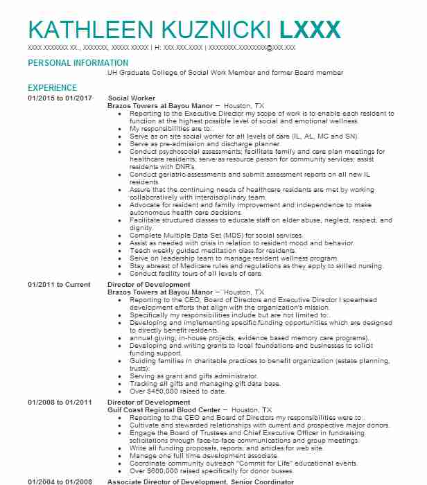 social worker - Clinical Instructor Resume