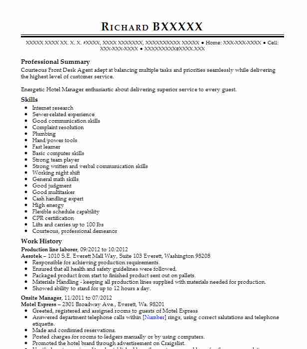 production line laborer - Sample Resume For Fishing Guide