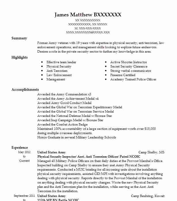 7 enlisted resume examples