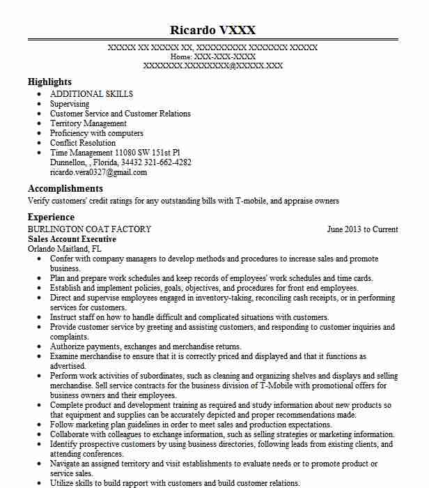 Sales & accounts executive resume samples | velvet jobs.