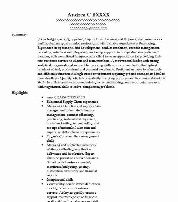 Materials Manager Resume Sample Resumes Misc Livecareer