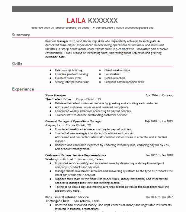 Fiscal Manager Resume Example Community Development Commission