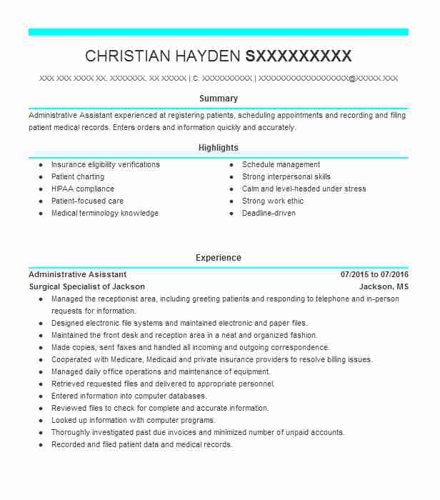administrative specialist 0111 resume example united
