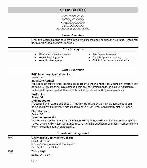 Inventory Auditor Resume Sample | Auditor Resumes | LiveCareer