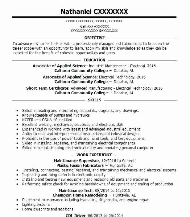 16570 Electrical And Electronics Resume Examples | Installation And ...