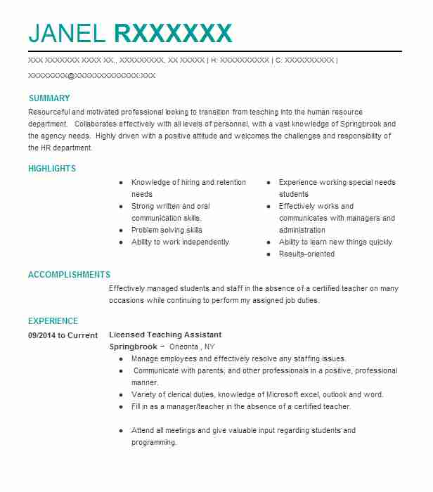 Find Resume Examples in Worcester, NY | LiveCareer
