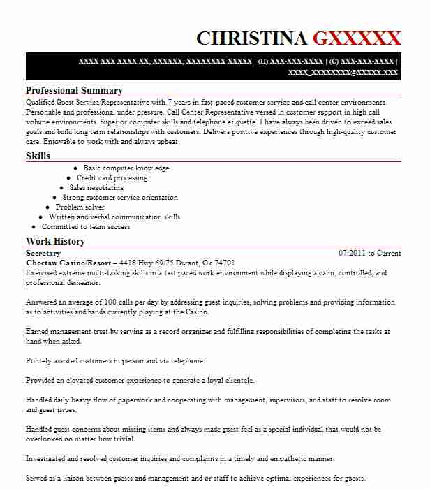 17 resumes matching customer service representative resume samples in durant oklahoma - Call Center Customer Service Representative Resume