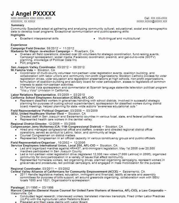 Campaign Field Director Resume Sample Director Resumes