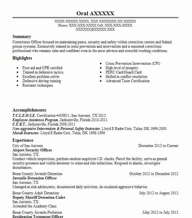 Airport Security Officer Resume Sample | Officer Resumes | LiveCareer
