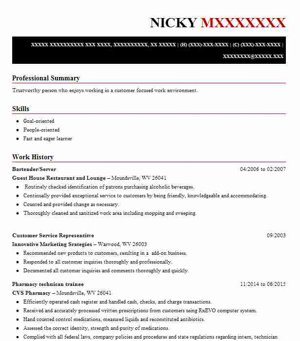 find resume examples in jacobsburg oh livecareer