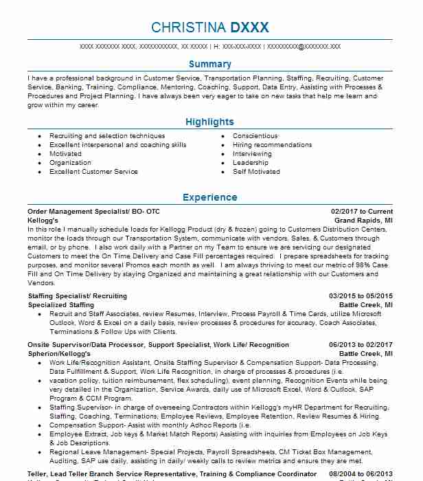 best software training resume example