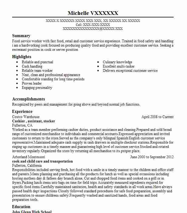 stocker and cashier resume example the 99 cent store