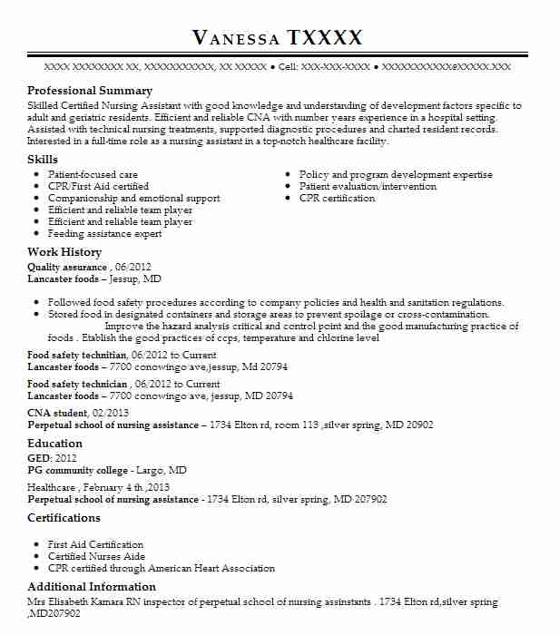 11 ged resume examples in maryland livecareer