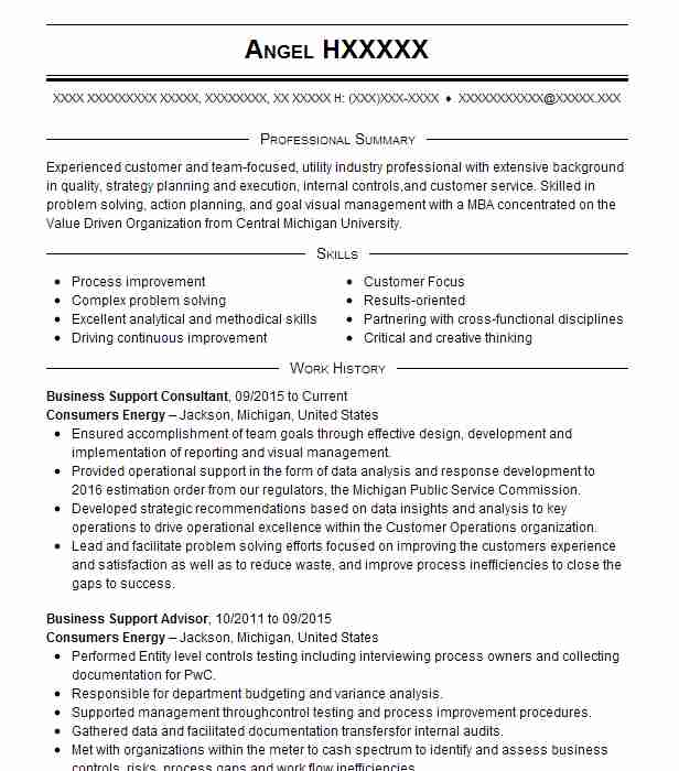 business support consultant resume example wells fargo