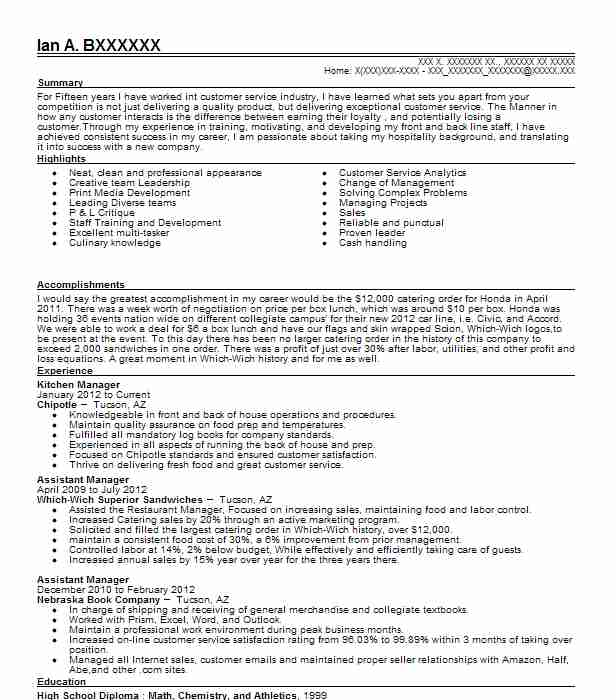 senior kitchen manager resume example the cheesecake factory