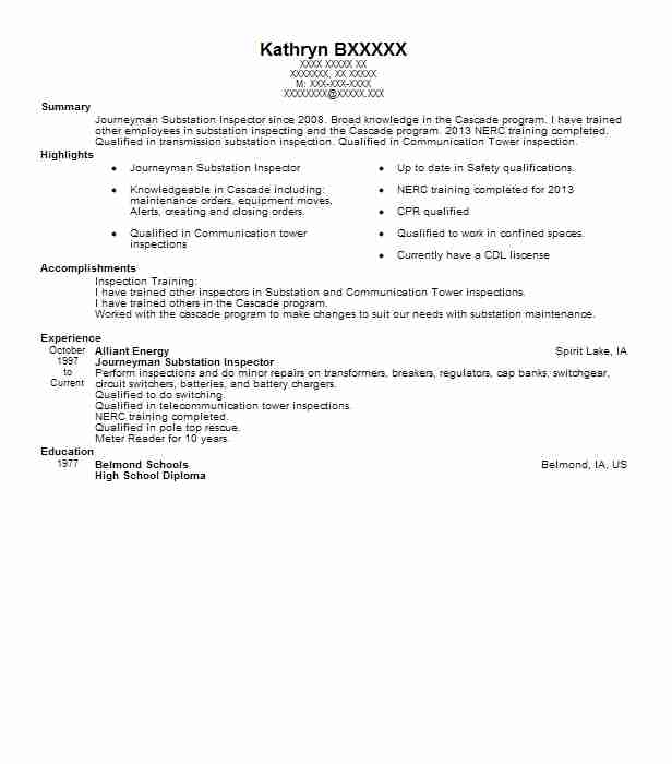 Contemporary Alliant Energy Resume Photo - Best Resume Examples by ...