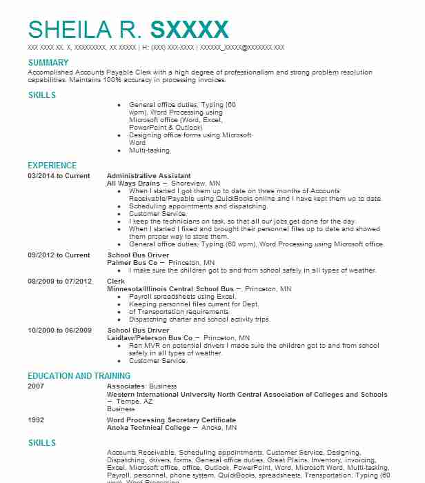accounts payable receivable resume examples accounting and
