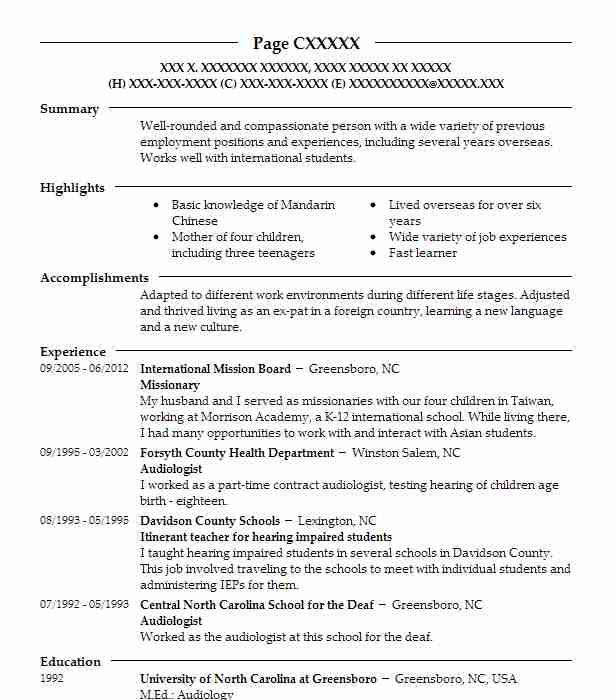 Missionary Resume Example Church Of Jesus Christ Of Latter