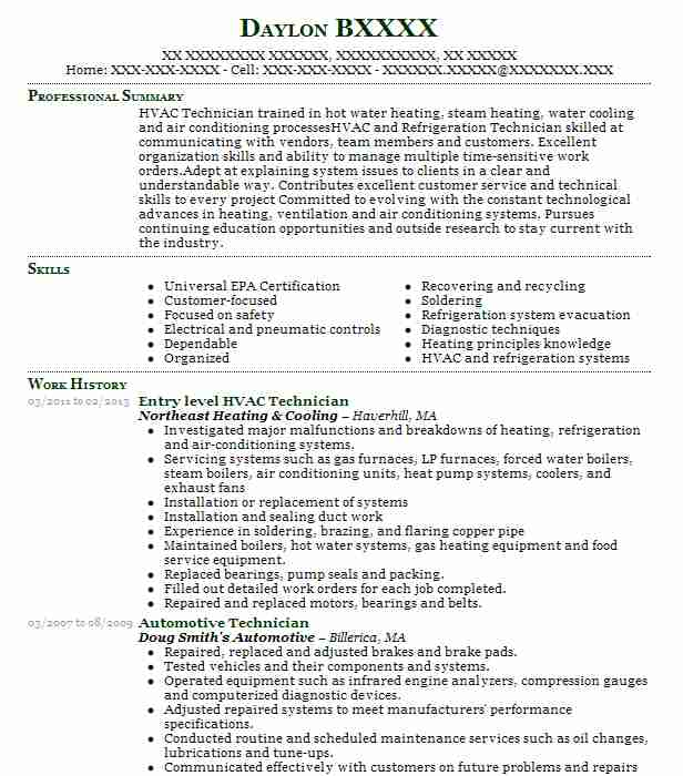 Entry Level Body Technician Resume Example Paceline