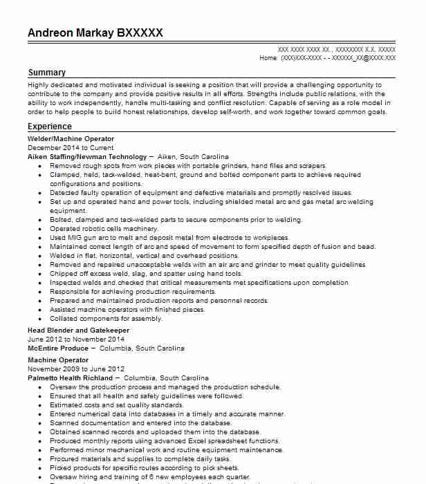 Process Operator Resume Example (Valero Energy ) - Houston, Texas