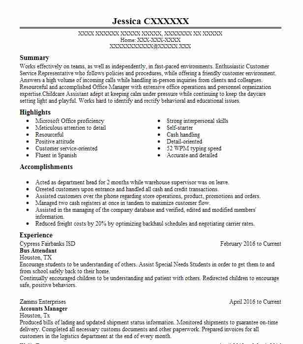 Cafe Attendant Resume Sample | Attendant Resumes | LiveCareer