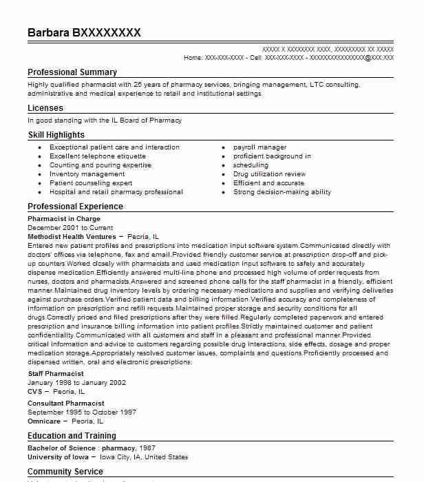 resume pharmacist templatesmemberproco - Sample Resume Pharmacist