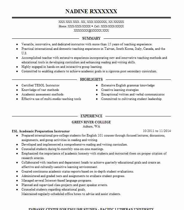 Find Resume Examples in Fox Island