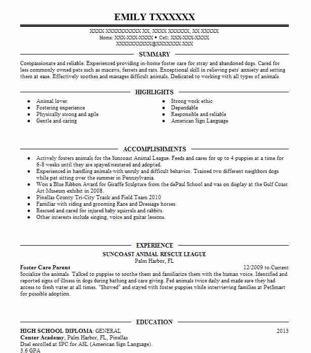 foster  animal care volunteer resume example social tees