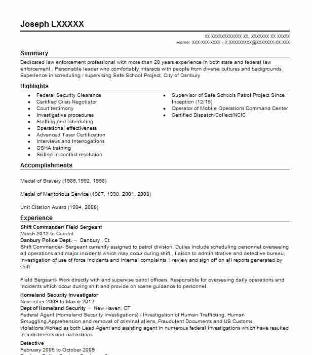 find resume examples in sherman  ct