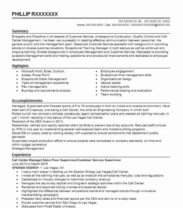 call center floor support resume example teleperformance