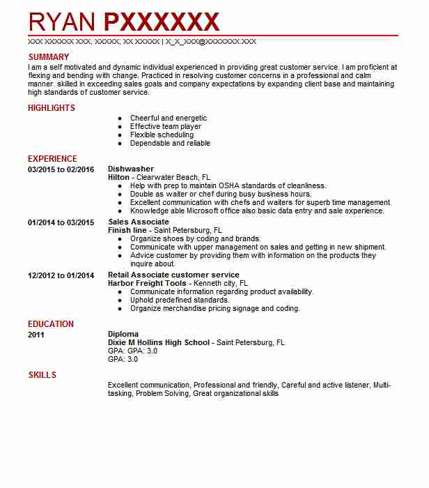 dishwasher resume  dishwasher resume sample two  2019