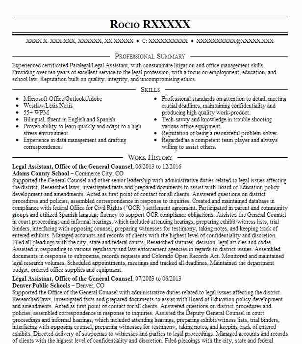 legal office manager resume example faris dixon law firm