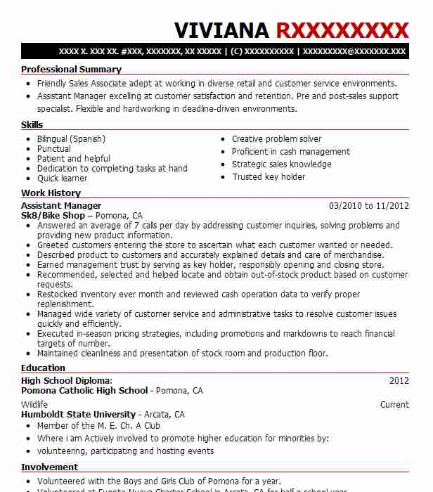 top animal care and service retail resume