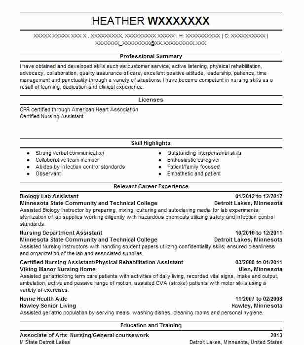 biology lab assistant resume example university of michigan