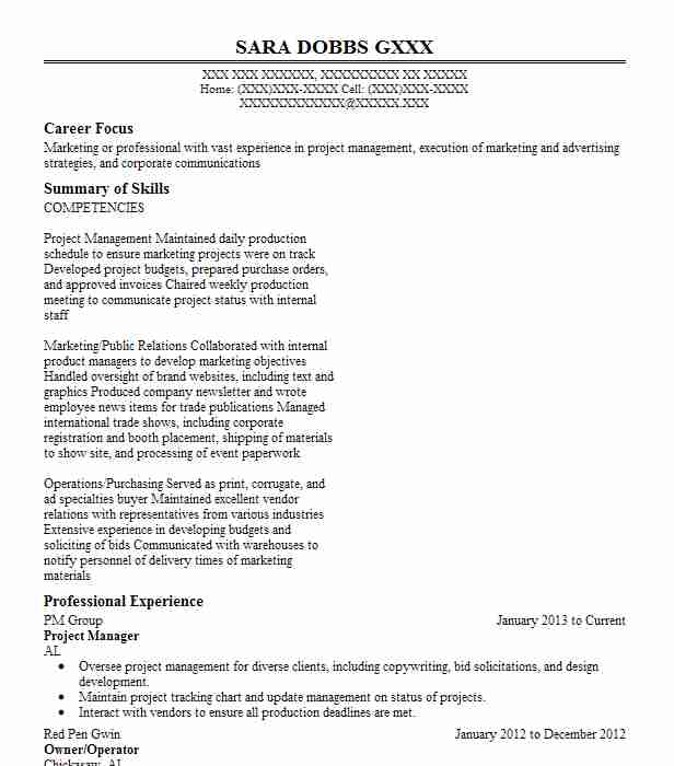 1 resumes matching traffic and production management resume samples in mobile alabama