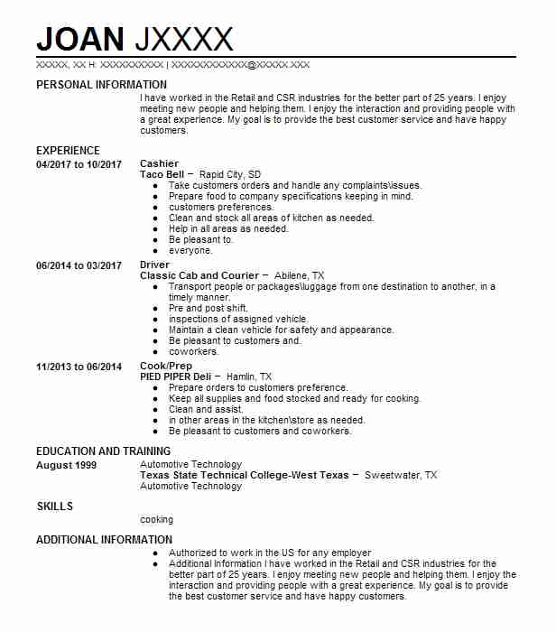 cashier resume example walmart byers colorado