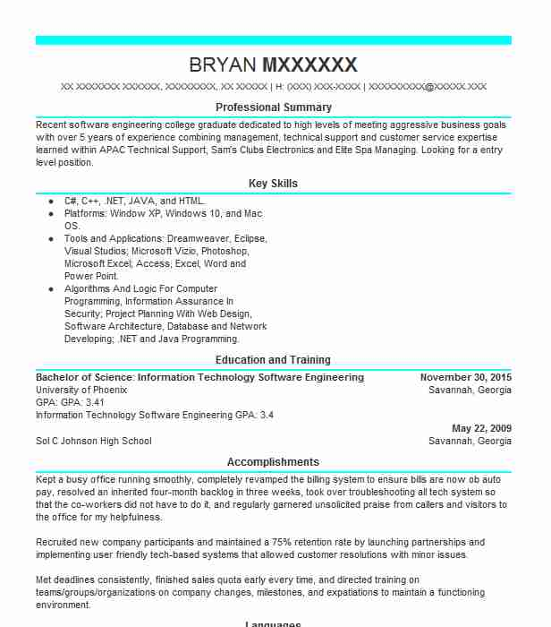 best technical support resume example
