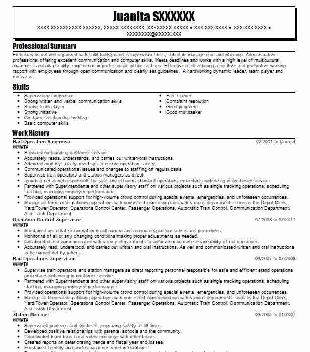 3 Railroad Resume Examples | Management Resumes | LiveCareer